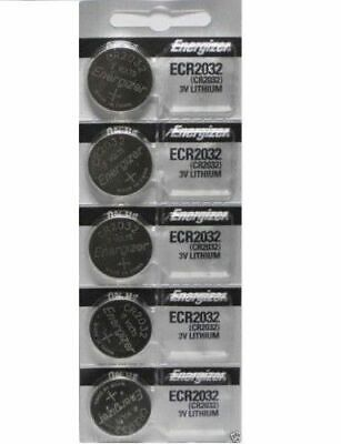 Lot of 5 Energizer ECR2032 Genuine Fresh Date CR2032 2032 Lithium 3V Batteries