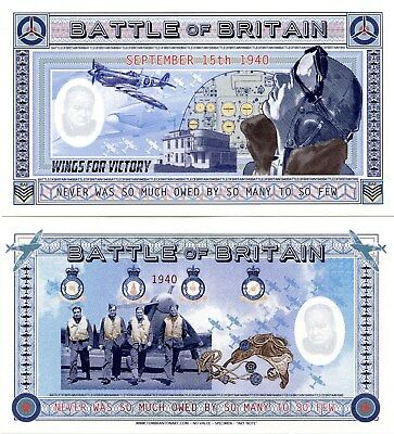 """BATTLE of BRITAIN """"Art Note""""  Uncirculated"""