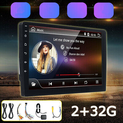 2 DIN Car HD Stereo 9'' Android 8.0 GPS WIFI Bluetooth Radio MP5 Player Auto