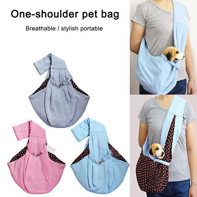 Small Pet Dog Cat Sling Carrier Bag Travel Tote Pouch Shoulder Carry Handbag