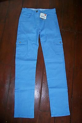 Neck & Neck-girls blue trousers.8y(118-130cm).Cotton/elastane.BNWT.RRP 29 £.