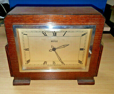 "Unusual Rare Electric French Bulle Patent Clock ""grosvenor"" Mantle Working"