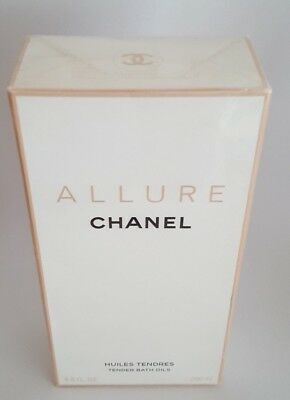 New in Box Cellophane Sealed CHANEL ALLURE TENDER BATH OILS 200ml