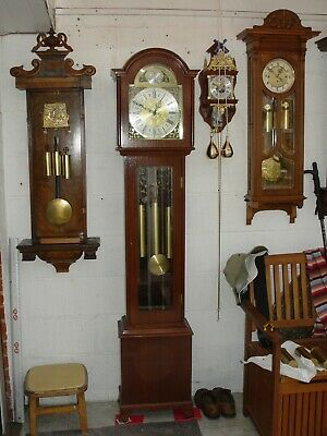 Grandfather Westminster Whittington triple chimes clock