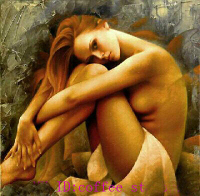 CHENPAT893 sitting long hair half nudes portrait hand oil painting art on canvas