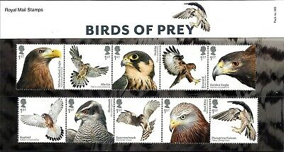 Gb 2019 Mint Birds Of Prey Presentation Pack 569 Retail Booklet Pm66 & Stamps
