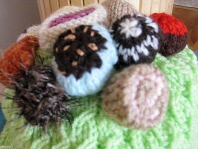 Hand Knitted Belgium Chocolates Tea Cosy. Easter, Slimmer's Fun Gift?