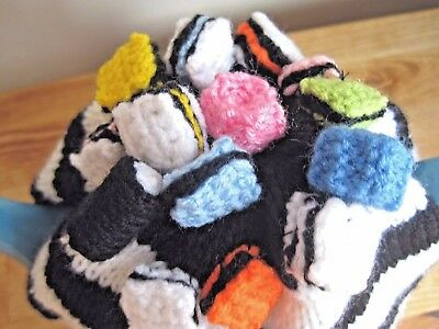 Fabulous Hand Knitted Liquorice Allsorts Tea Cosy. Father's Day Gift?