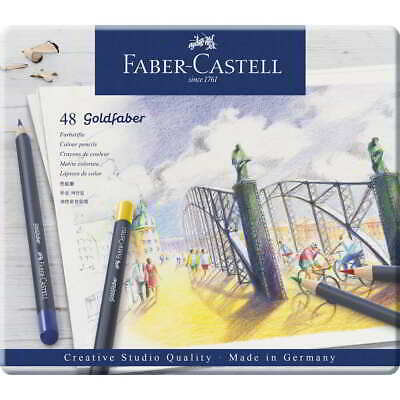 Lapices Color FABER-CASTELL Goldfaber, Caja Metal