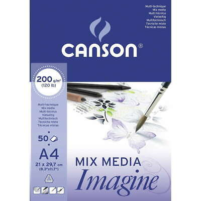 Bloc CANSON Mix Media Imagine, Din-A4 50 Hojas