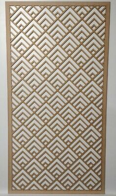 Radiator Cabinet Decorative Screening Perforated 3mm & 6mm thick MDF laser cutZ1