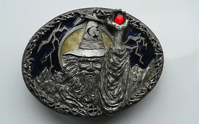 Large Vintage Rare Original Usa Wizard Magic Belt Buckle Masterpiece Gift