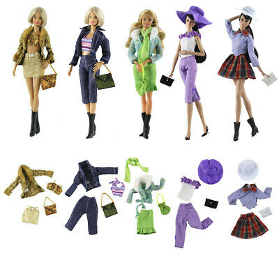 New 5 Set Fashion Handmade Evening Clothes/Outfit For 11.5in.Doll Xmas Gifts