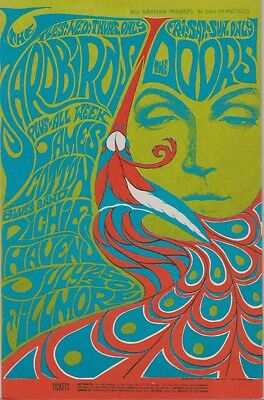 James Cotton signed 1967 Fillmore Concert Handbill!  Rockett 88 Singer!