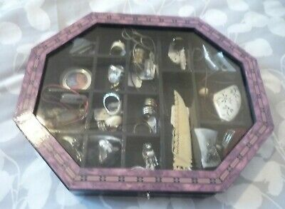 Miniature Display Cabinet With Over 20 Items. A Bargain!