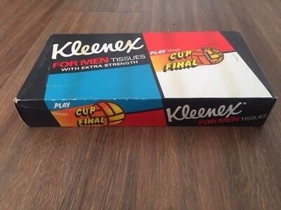 Vintage Kleenex for men tissues with extra strength. 1974 cup final. Unopened