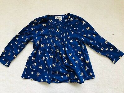 Baby Girls Blue Floral Pattern Blouse Long Sleeve Age 18-24 months from Next