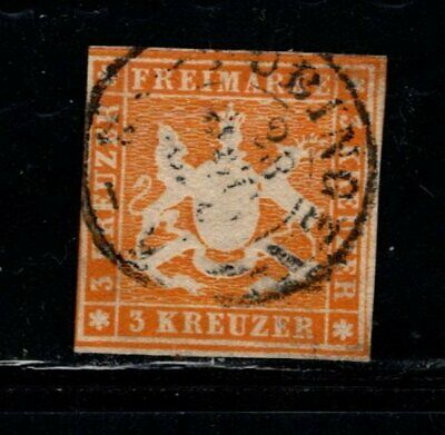 Item No. A6897 – Germany: Wurttemberg – Scott # 15 – Used