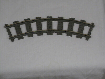 Lego 9V CURVED TRAIN TRACK LOT 4 pcs Train City Project part 2867