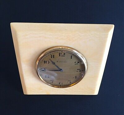 Nice Swiss Made 8 Day Vintage Desk Clock, Watch  c.1900
