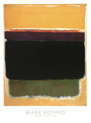 176897 ABSTRACT 1949 by Mark Rothko Brown Yellow Green WALL PRINT POSTER DE