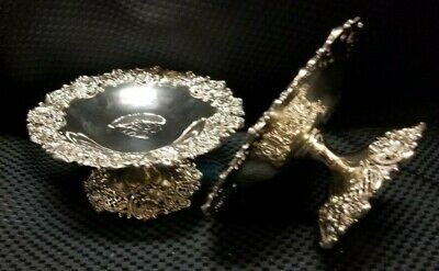 Sterling pair of J.E. Caldwell Tazza estate