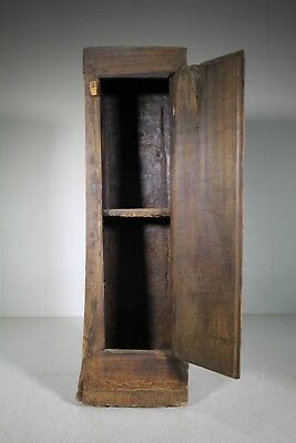 Primitive Early 19th Century Antique Dug Out Cupboard