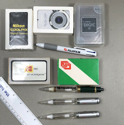 Vintage Film Photo Swag Kodak Fuji Canon Playing cards and pens NOS