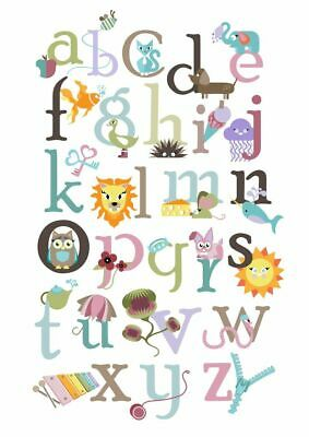 00197 KIDS ALPHABET LEARNING CHART IMAGE Wall Print POSTER AU