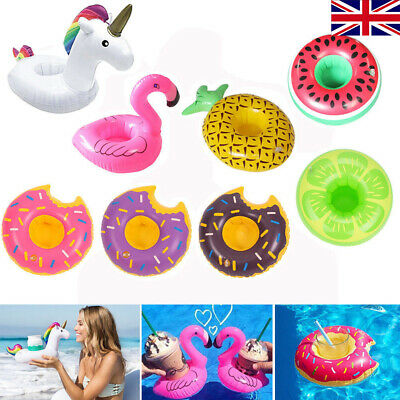4/9pc Inflatable Floating Drink Hot Tub Swimming Pool Can Cup Holder Beach Party