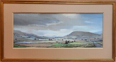 Howgill Fells. Pastel by listed artist Christopher Assheton-Stones PS 1992