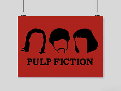 Pulp Fiction Poster A4 Size Retro Classic Movie Wall Picture Print