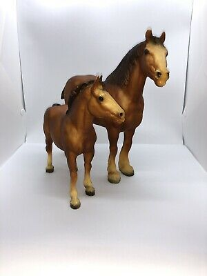 Decorative Arts Vintage 3 Inch Plastic Foal Colt Baby Horse Toy Distressed Decor