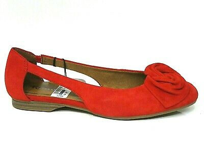 TAMARIS SCHUHE PUMPS Ballerina Runa rot fire Leder Touch it 22106 22 686