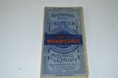 Old Wharfedale Area Bartholomews Cloth Map For Motorists And Cyclists Sheet 6