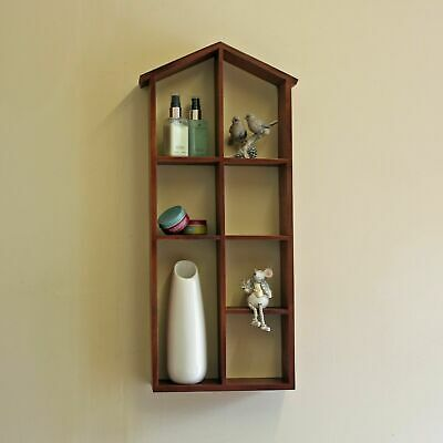 Wooden Pigeon Hole Wall Storage Hanging Vintage Decor Display Unit Shop Home