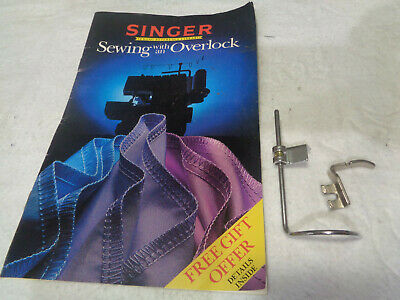 Vintage Sewing Machine Attachments & Singer Over-Lock Book