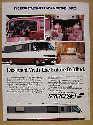 1990 STARCRAFT CLASS A Motorhome RV color photos vintage print Ad