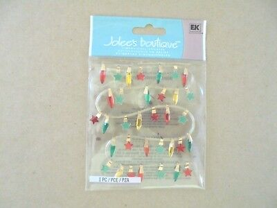 Jolees Boutique Christmas Lights Scrap Booking Stickers