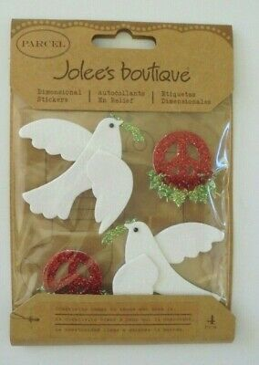 Jolees Christmas Peace On Earth Doves Scrap Booking Stickers