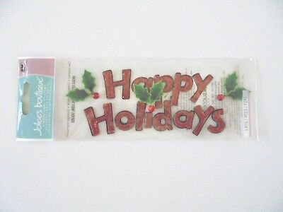 Jolees Boutique Christmas Happy Holidays Scrap Booking Stickers