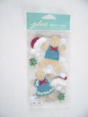 Jolees Boutique Christmas Gingerbread Couple Scrap Booking Stickers