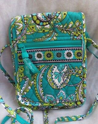 Vera Bradley Mini Hipster Peacock Retired Excellent Condition