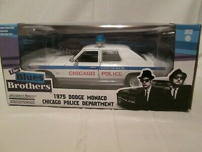 GREENLIGHT COLLECTIBLES BLUES BROTHERS CHICAGO POLICE 19 1//24 DODGE MONACO