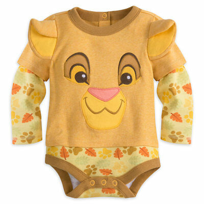 68b0929310632 Disney Store Lion King Simba Baby Costume Outfit Set Months 0 3 6 9 12 18