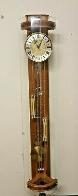 Vintage Curved Glass Regulator double weight wall clock
