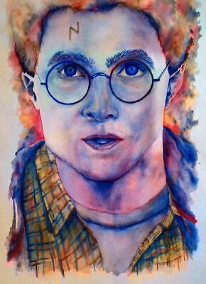 00771 HARRY POTTER WATERCOLOUR IMAGE Wall Print POSTER CA