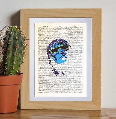 Ian Brown retro art dictionary page art print vintage gift antique bookE36