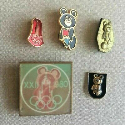 Russian USSR Set of 11 Badges Pins Moscow. Olympiad 80. Olympic bear. Emblem