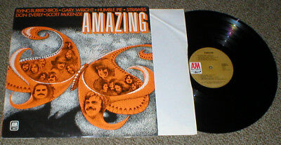 AMAZING vinyl LP on A&M Humble Pie Flying Burritos Everly McGuire others